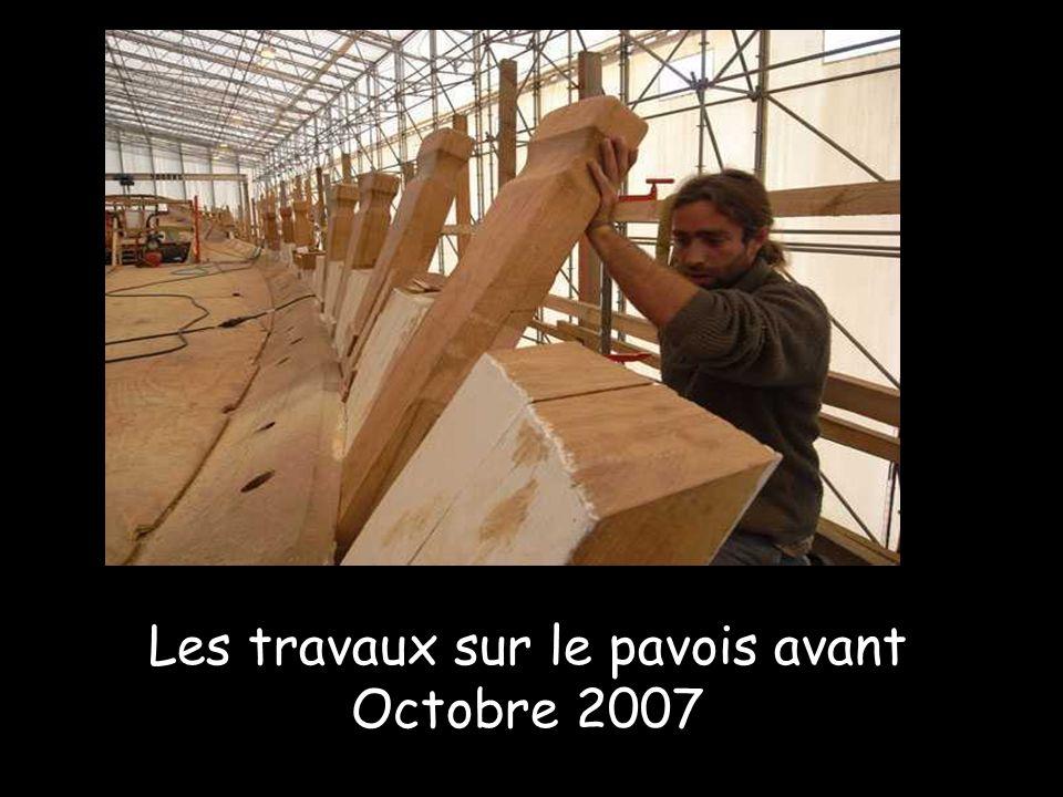Le 22 août 2006 : pièces de gréement tournées par Luc Caquineau, originaire de Charente-maritime, installé depuis plusieurs années en Saône et Loire o