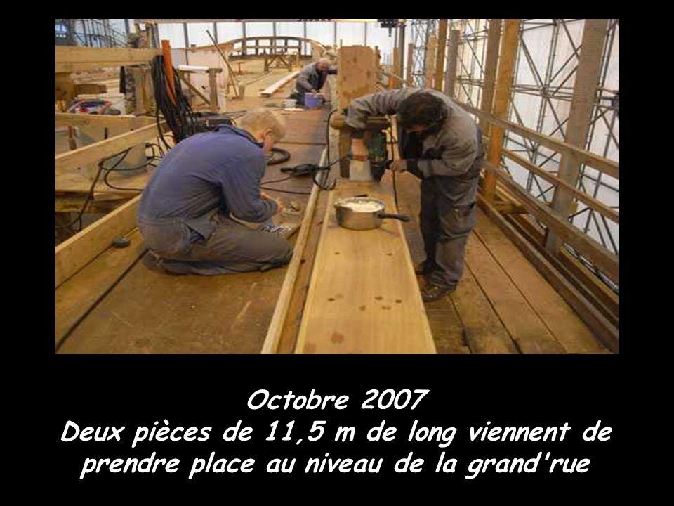 Les travaux sur le pavois avant Octobre 2007