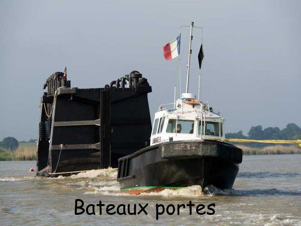 Les travaux réalisés par la Ville de Rochefort et qui accompagnent l'installation des bateaux-portes comprennent également des travaux de génie civil,
