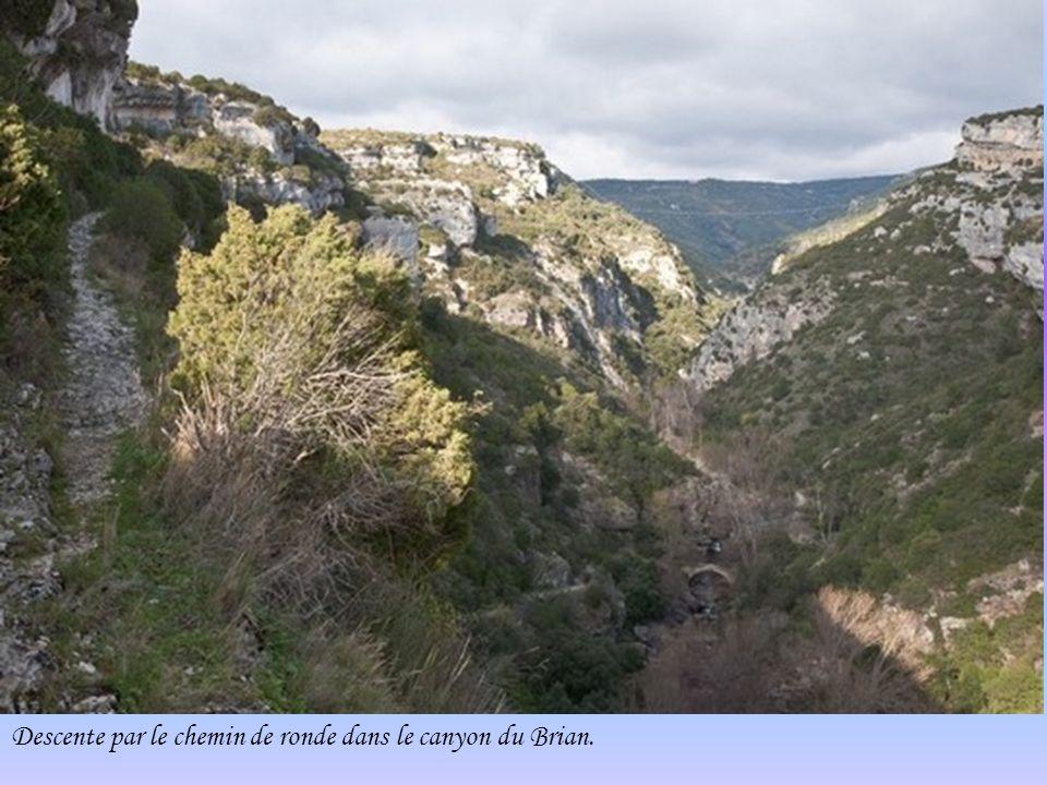 Ruines du château -La Candela Départ du chemin de ronde autour du village