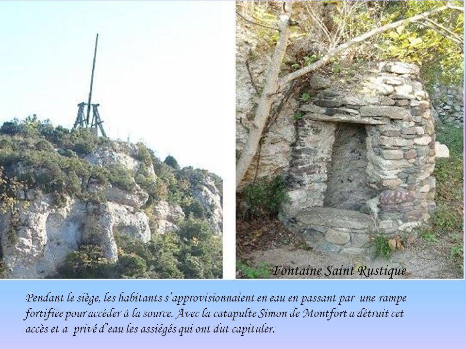 Malvoisine (catapulte) construite pour remémorer le siège de Minerve.