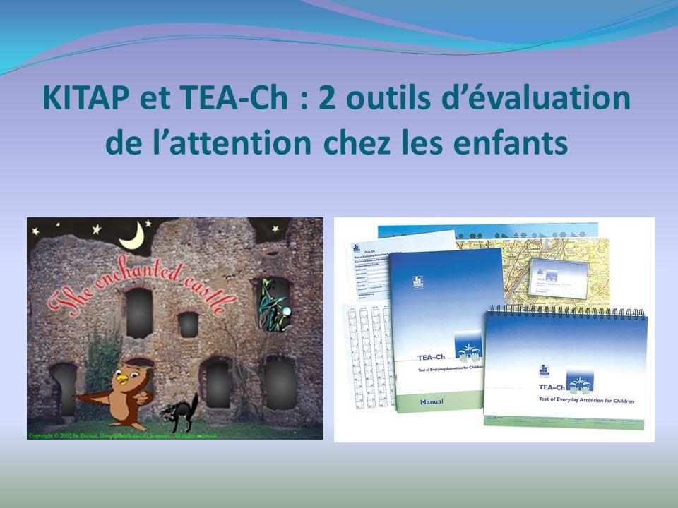 KITAP et TEA-Ch : 2 outils dévaluation de lattention chez les enfants