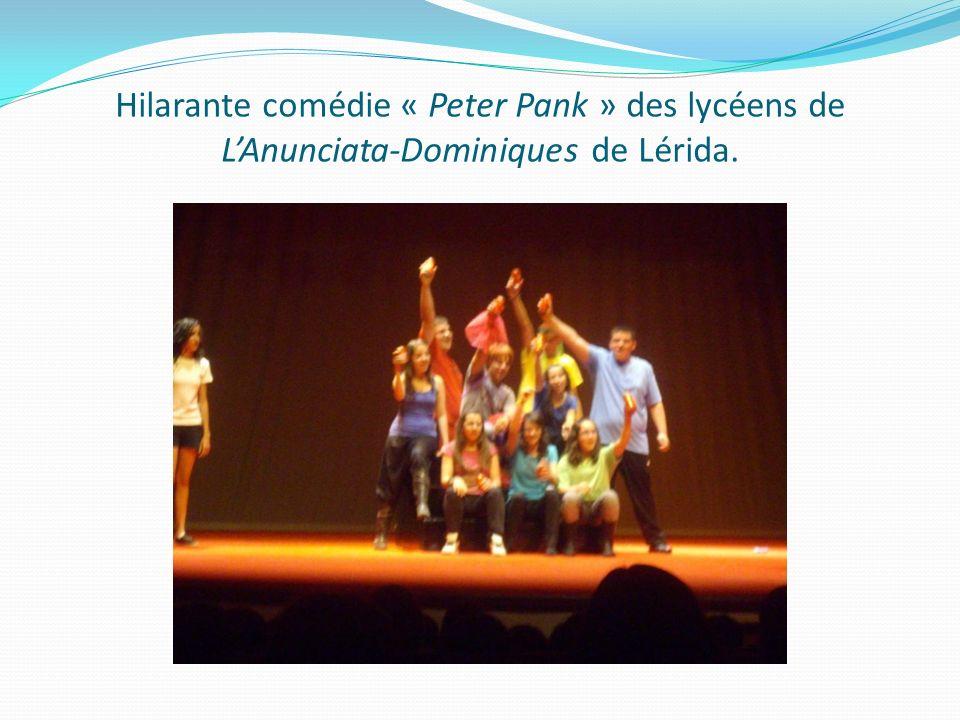 Hilarante comédie « Peter Pank » des lycéens de LAnunciata-Dominiques de Lérida.