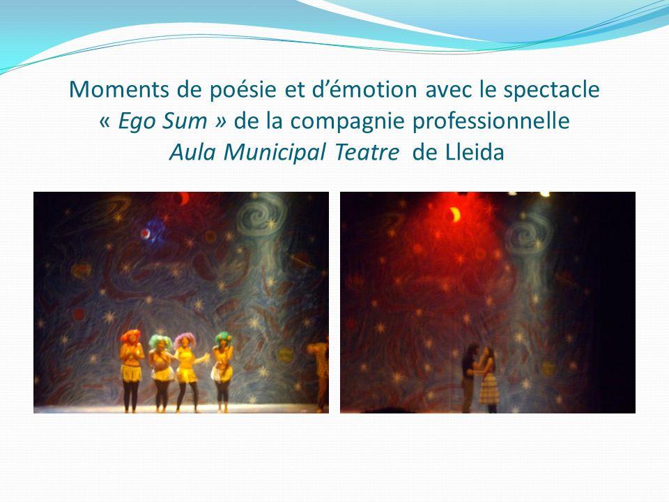 Moments de poésie et démotion avec le spectacle « Ego Sum » de la compagnie professionnelle Aula Municipal Teatre de Lleida