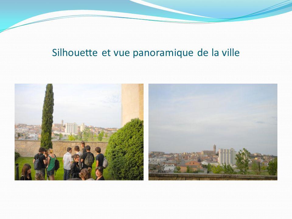 Silhouette et vue panoramique de la ville