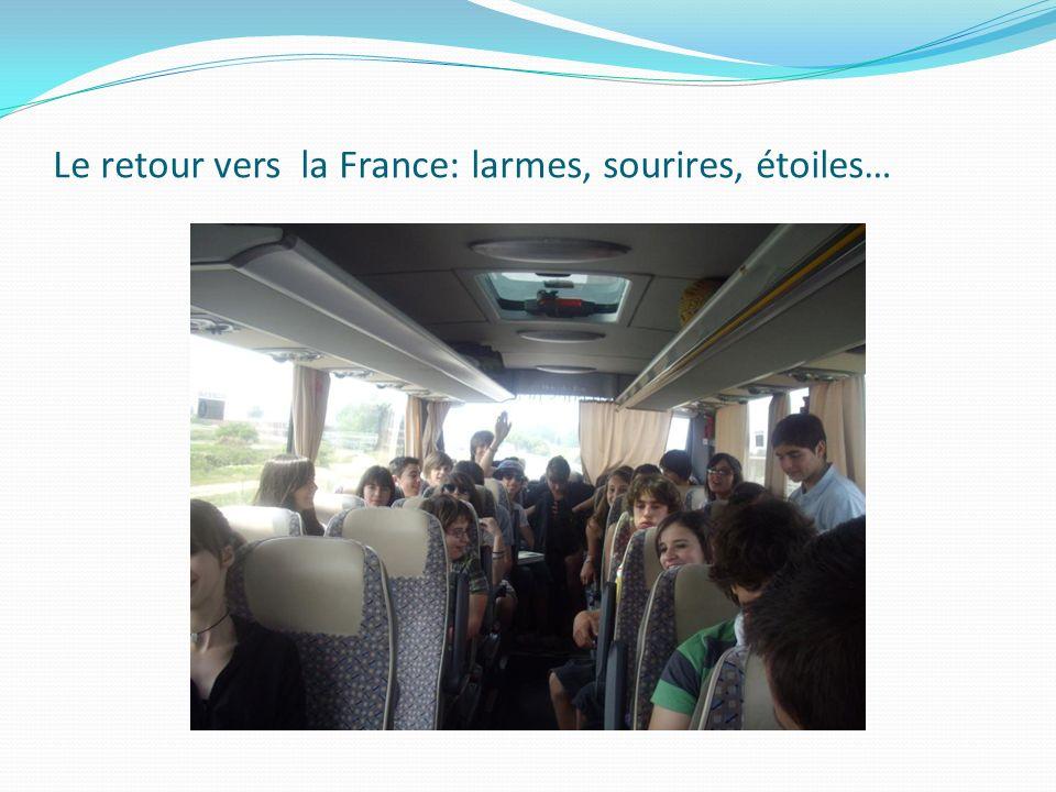 Le retour vers la France: larmes, sourires, étoiles…