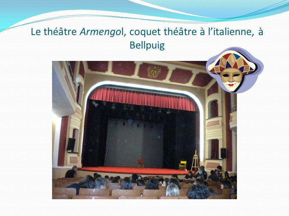 Le théâtre Armengol, coquet théâtre à litalienne, à Bellpuig