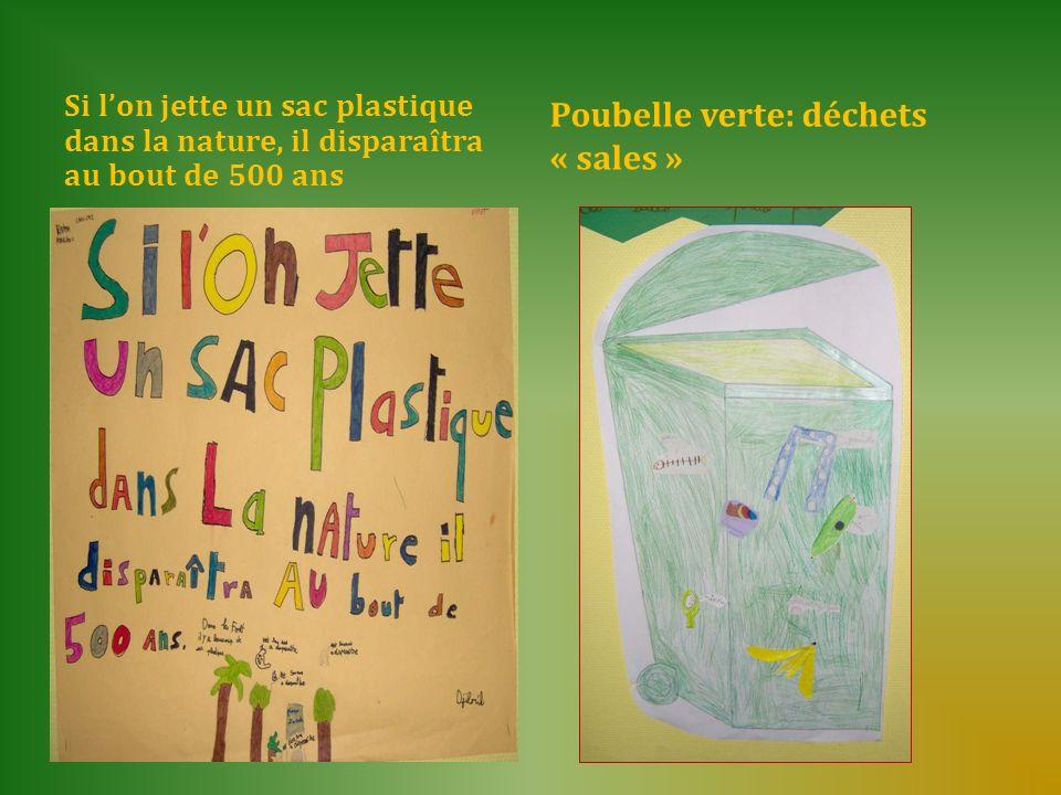 Si lon jette un sac plastique dans la nature, il disparaîtra au bout de 500 ans Poubelle verte: déchets « sales »