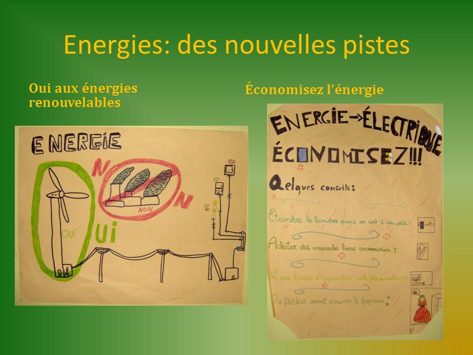 Energies: des nouvelles pistes Oui aux énergies renouvelables Économisez lénergie