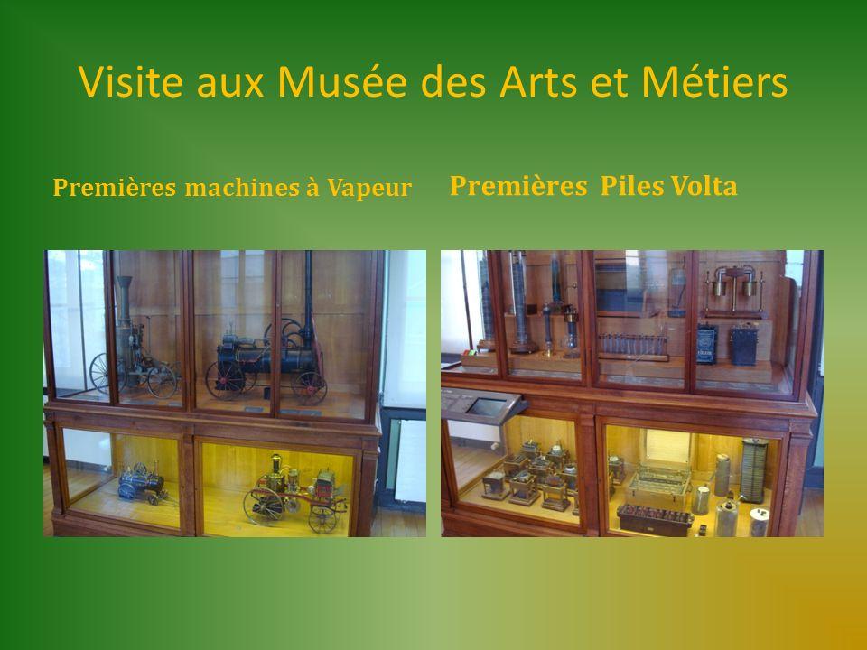Visite aux Musée des Arts et Métiers Premières machines à Vapeur Premières Piles Volta