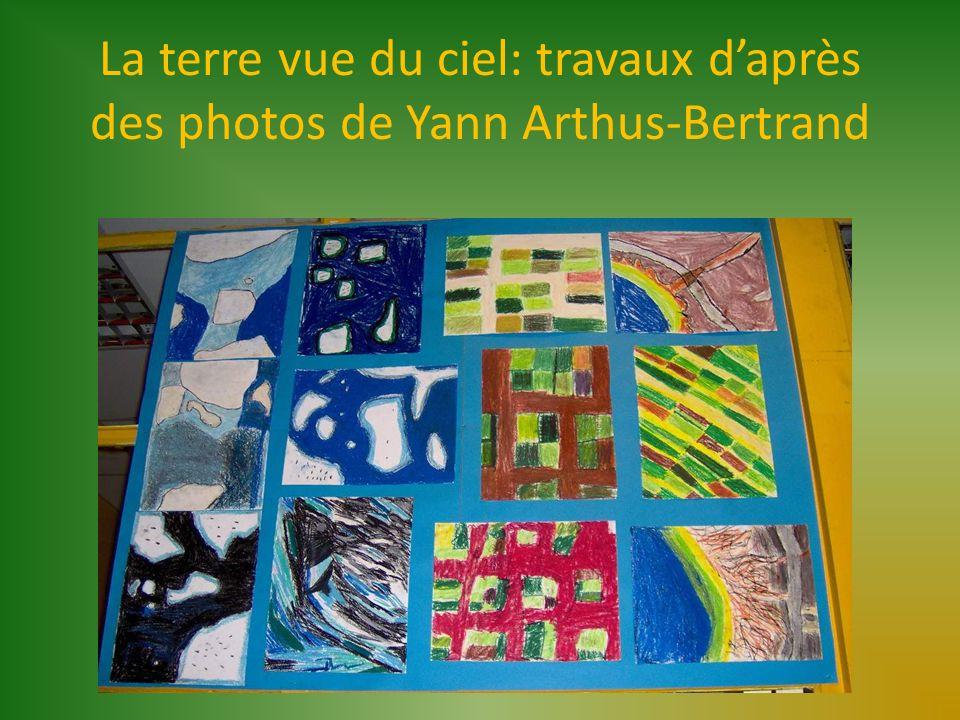 La terre vue du ciel: travaux daprès des photos de Yann Arthus-Bertrand