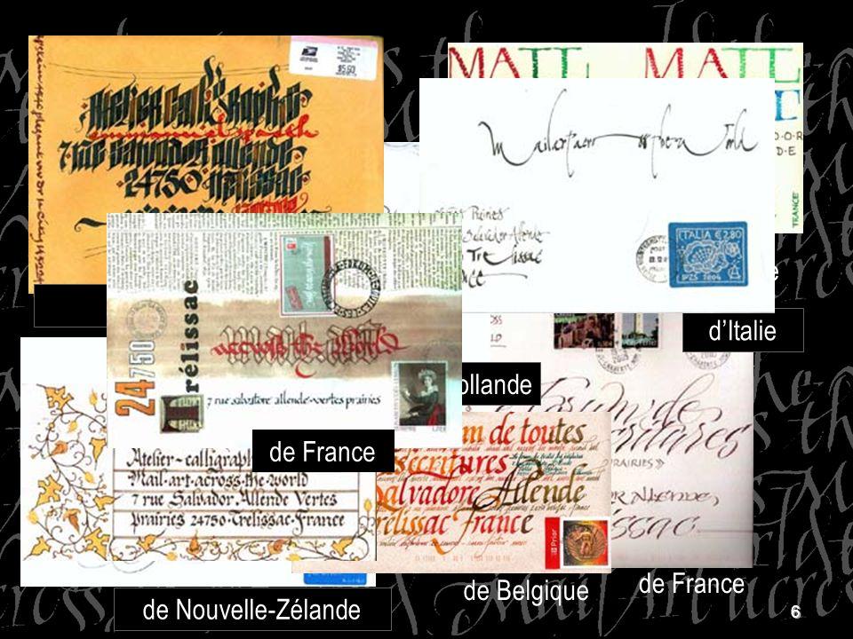 6 dArgenti ne dAllemagne de France dAngleterre de Belgique de Hollande dItalie de Nouvelle-Zélande D'Argentine des Etats-Unis de France