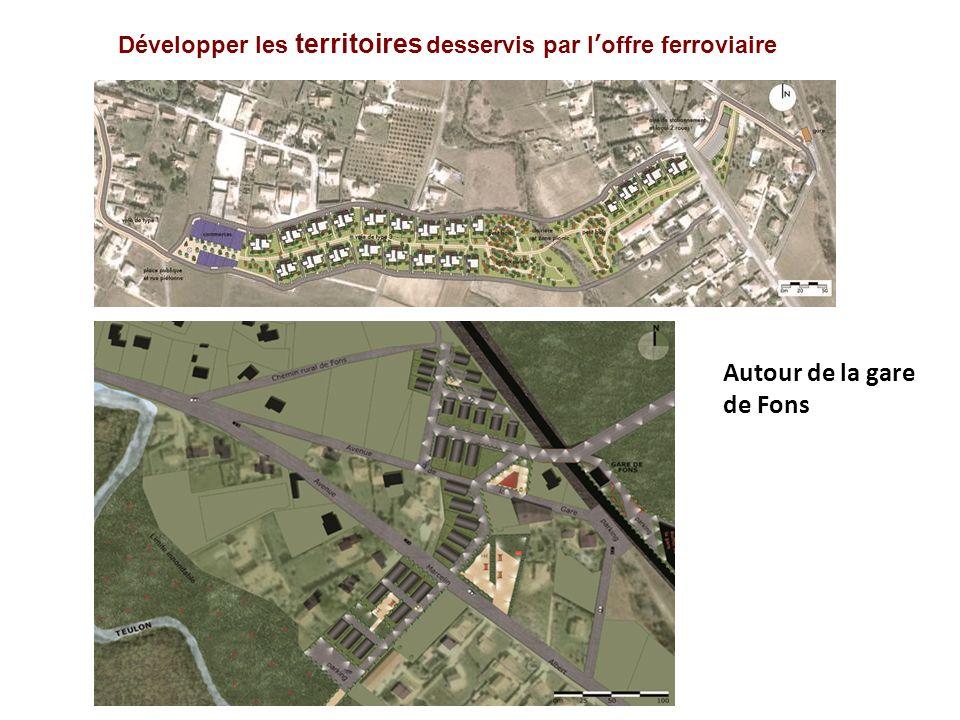 Développer les territoires desservis par loffre ferroviaire Autour de la gare de Fons