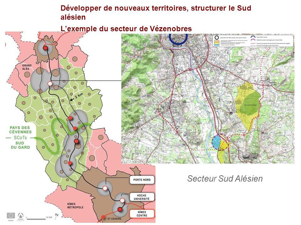 Développer de nouveaux territoires, structurer le Sud alésien Lexemple du secteur de Vézenobres Secteur Sud Alésien