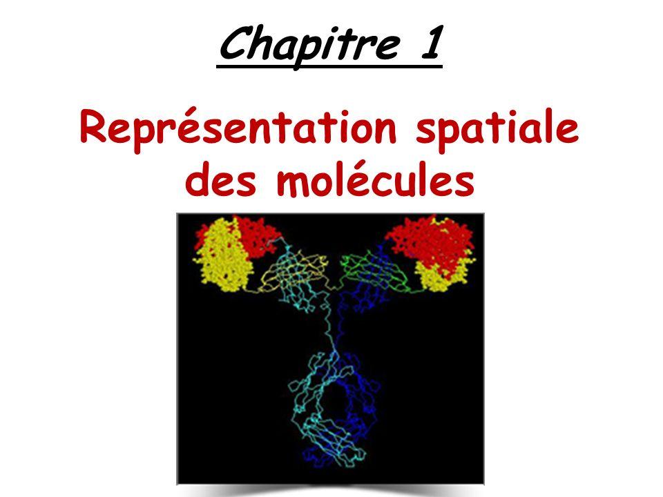 Chapitre 1 Représentation spatiale des molécules