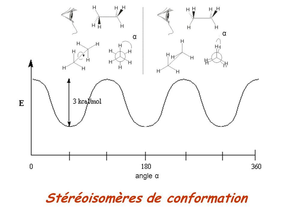 Stéréoisomères de conformation angle α α α