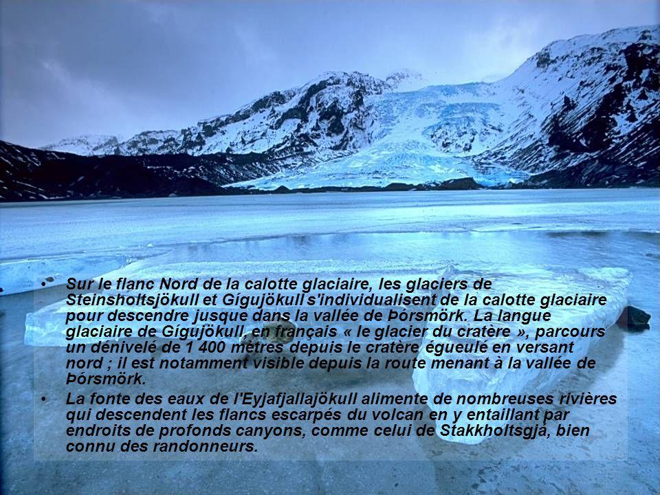 L'Eyjafjöll est un stratovolcan âgé d'environ 700 000 ans. Il semble avoir été peu actif, ayant connu des éruptions autour de 550, en 1612 et de 1821