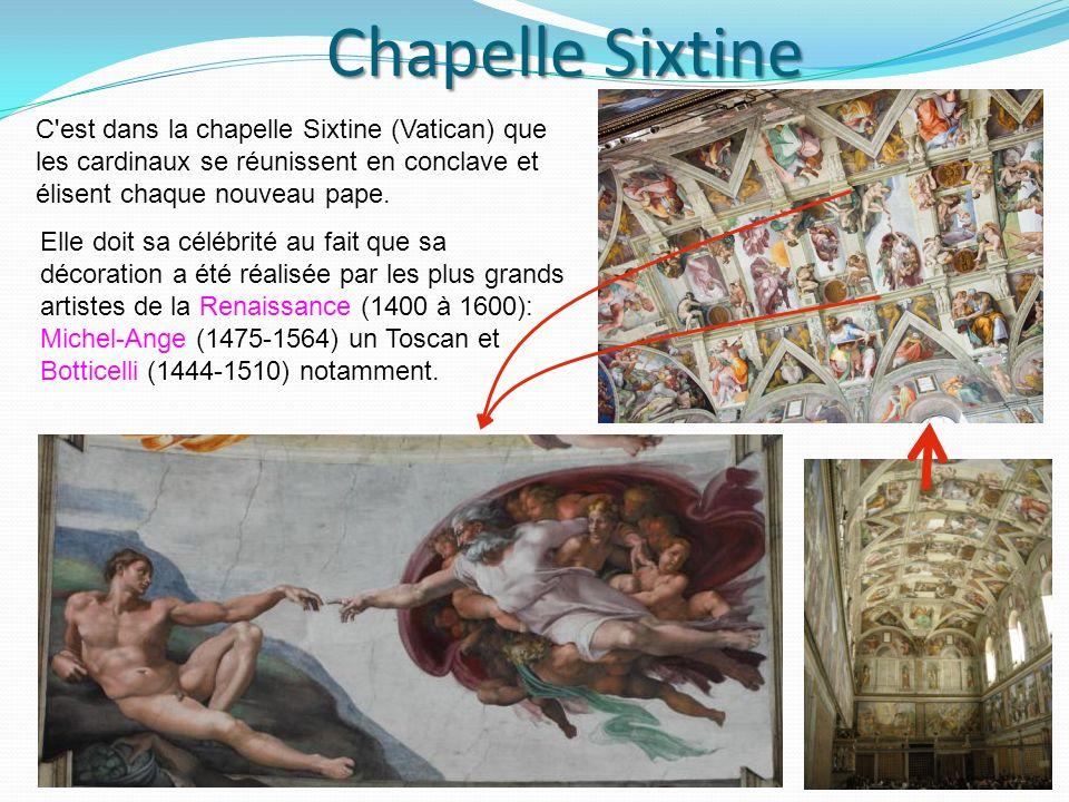 Chapelle Sixtine Chapelle Sixtine C est dans la chapelle Sixtine (Vatican) que les cardinaux se réunissent en conclave et élisent chaque nouveau pape.