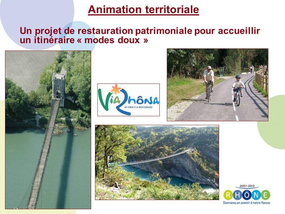 Animation territoriale Un projet de restauration patrimoniale pour accueillir un itinéraire « modes doux »