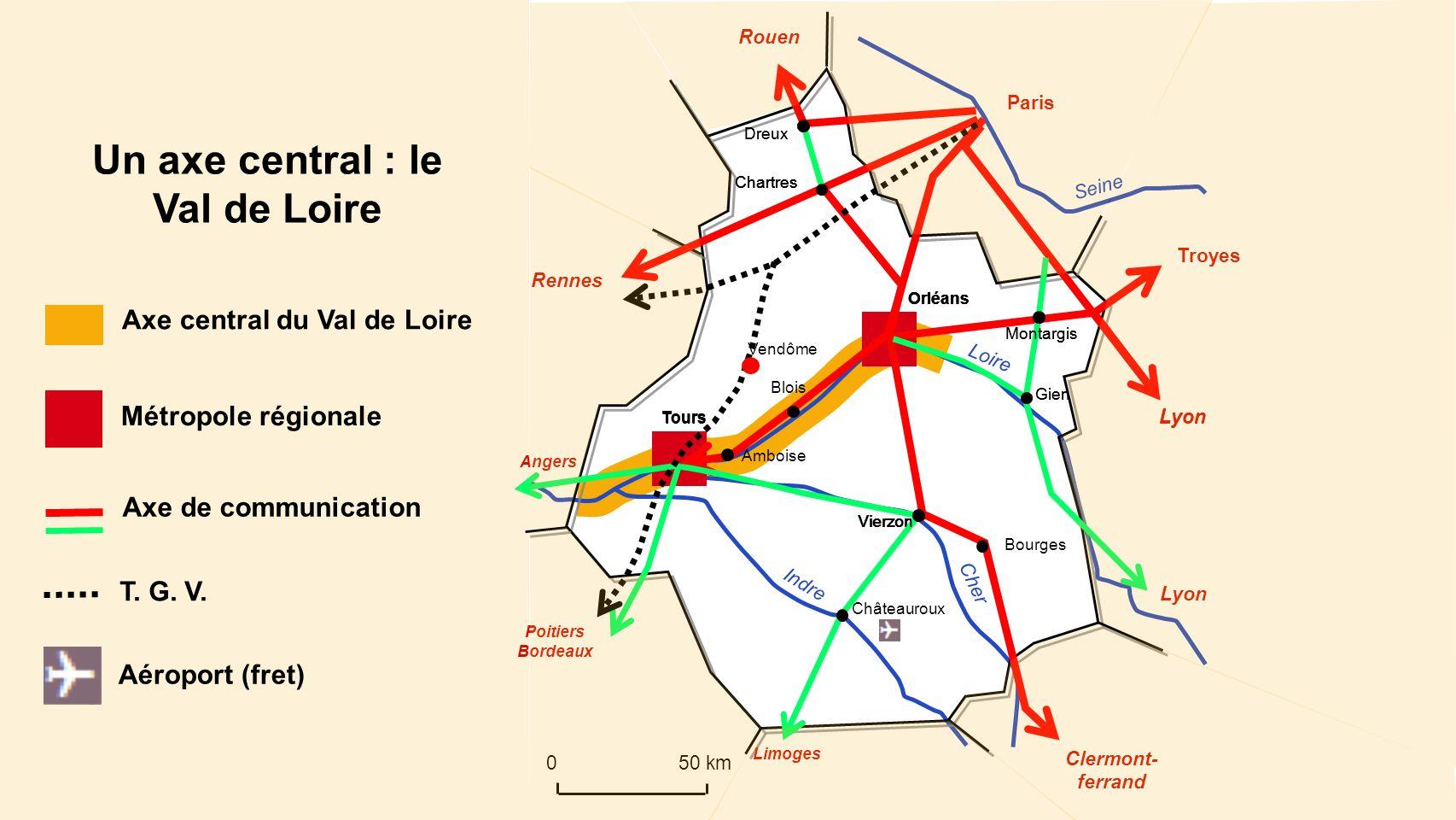 Lyon Chartres Loire Cher Indre Seine Orléans Tours Paris Rouen Dreux Rennes Orléans Tours Troyes Lyon Clermont- ferrand Montargis Vierzon Bourges Orlé