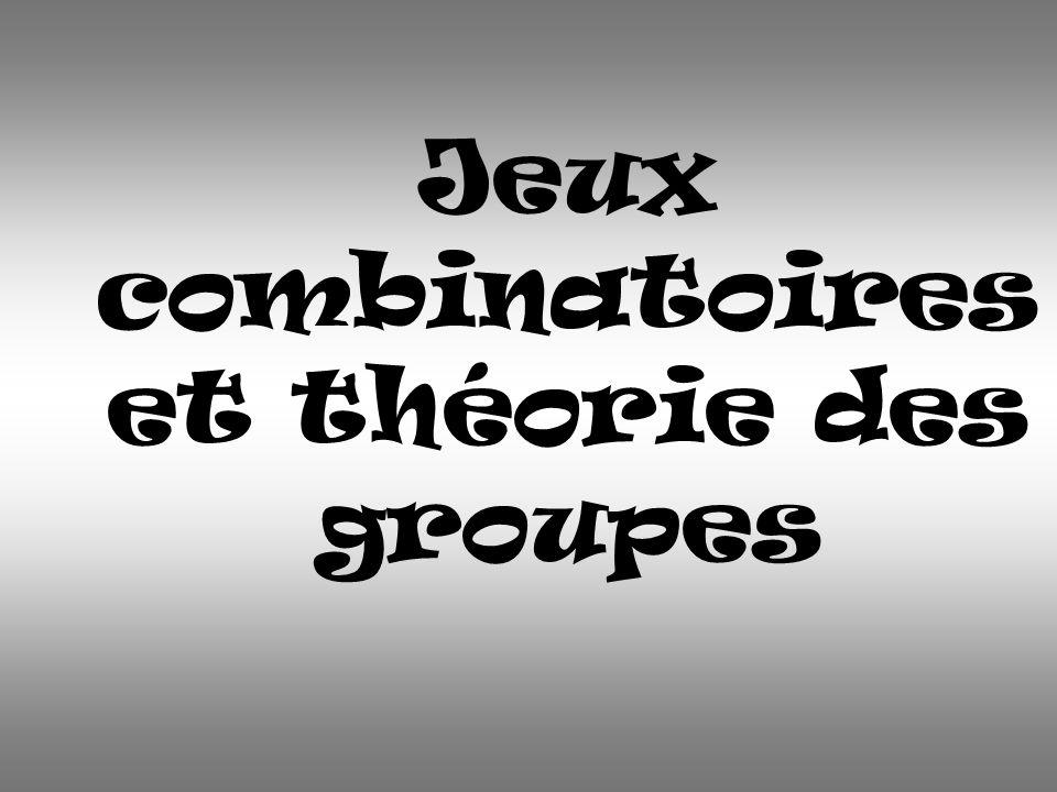 Jeux combinatoires et théorie des groupes