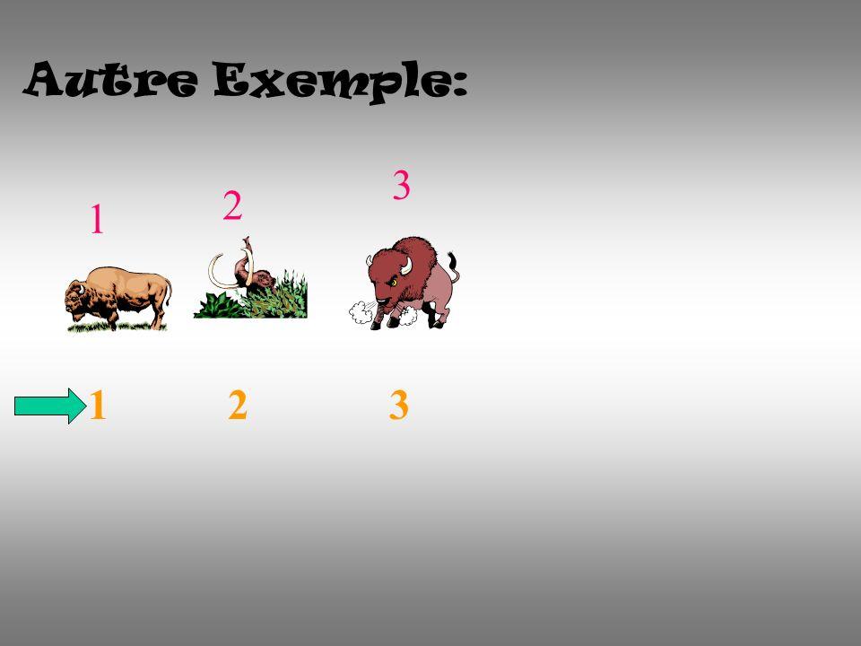 Autre Exemple: 1 2 3 1 2 3 1 3 2
