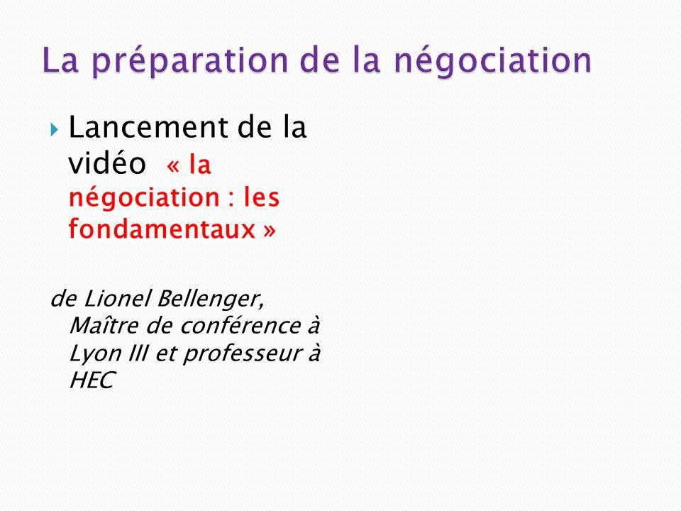 Lancement de la vidéo « la négociation : les fondamentaux » de Lionel Bellenger, Maître de conférence à Lyon III et professeur à HEC