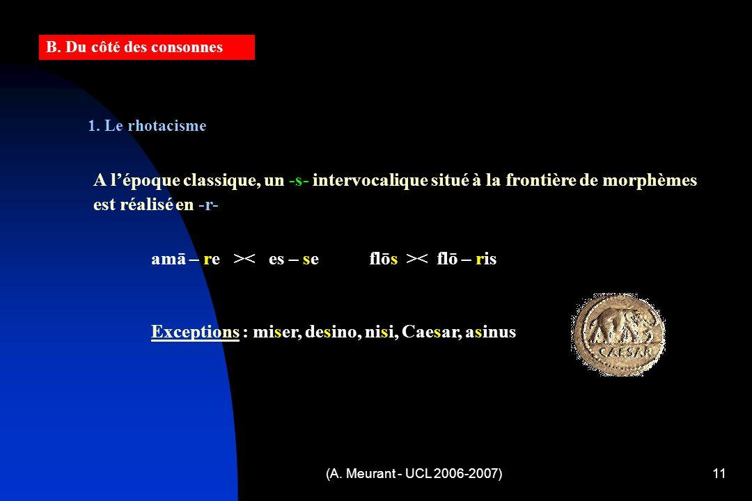 (A. Meurant - UCL 2006-2007)11 1.