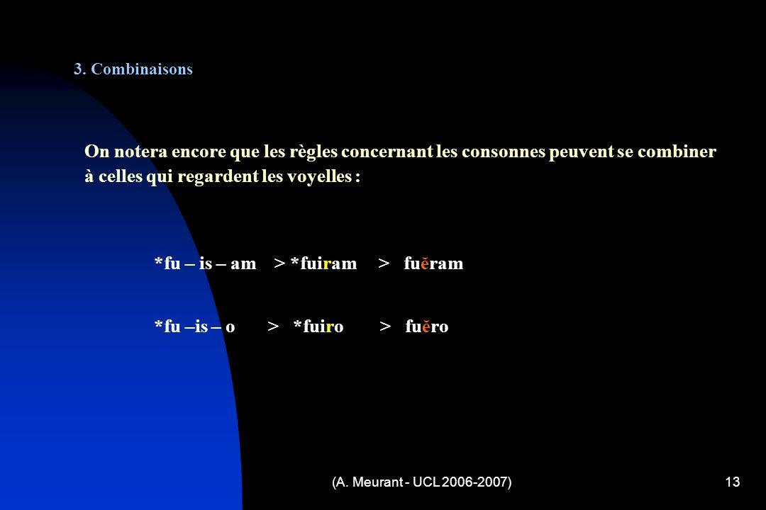 (A. Meurant - UCL 2006-2007)13 3.