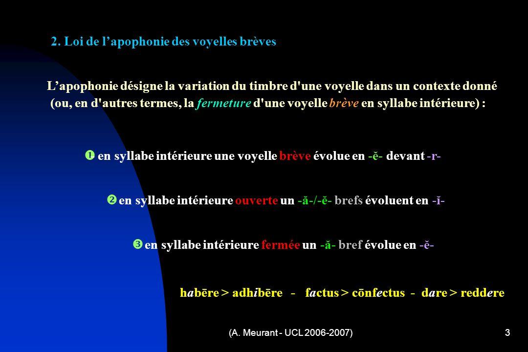 (A. Meurant - UCL 2006-2007)3 2.
