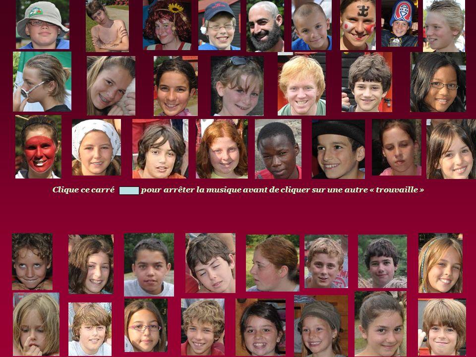 JEU Pour les petits et les grands 1- Regarde si tu trouves ta face. ( Assez facile) 2-Dans les 40 photos, cinq ont un point précis de caché. Si tu cli
