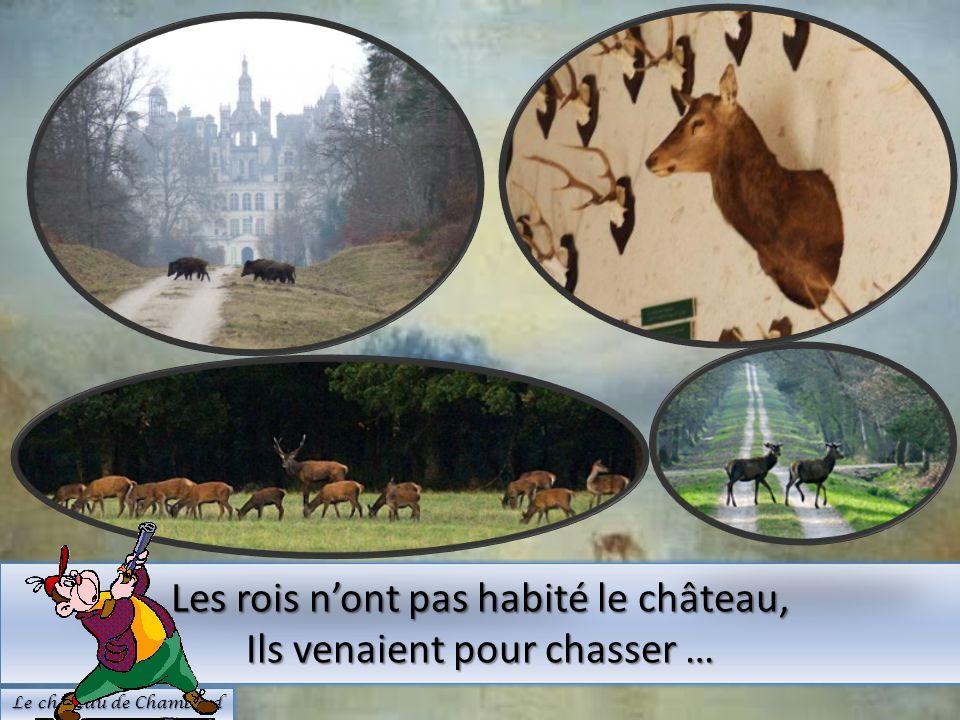 Les rois nont pas habité le château, Ils venaient pour chasser … Le château de Chambord