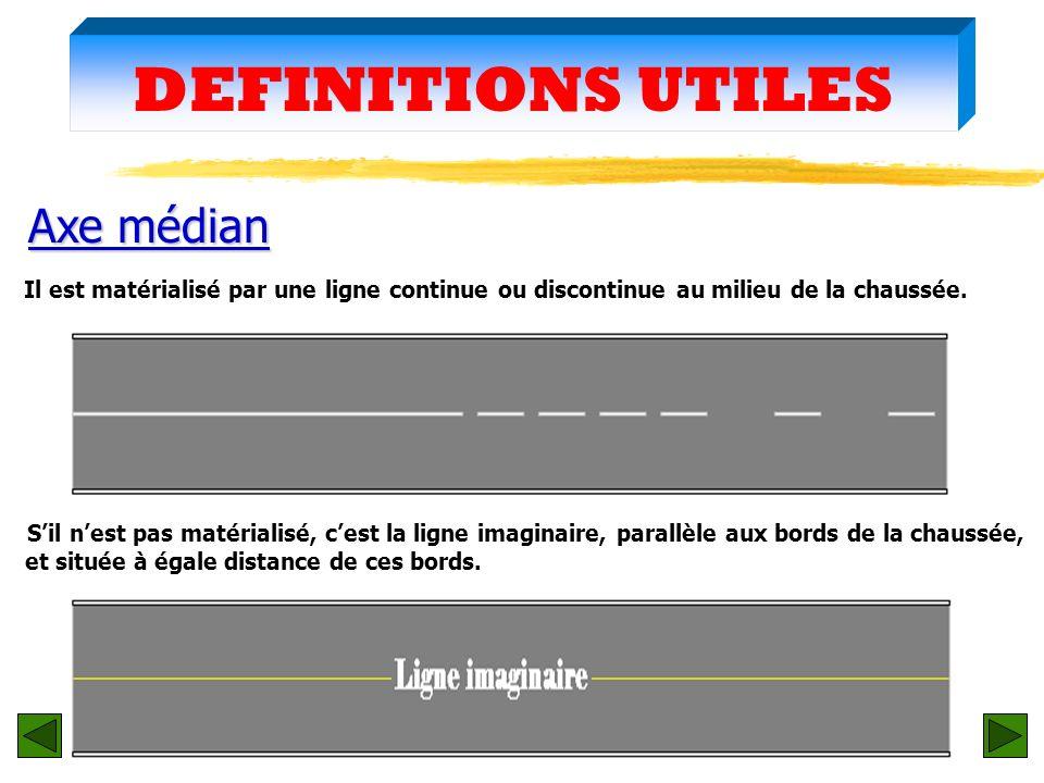 DEFINITIONS UTILES zChangement de file zChangement de file (rubrique 12 : case 10) Une file est une succession de deux véhicules ou plus placés lun de