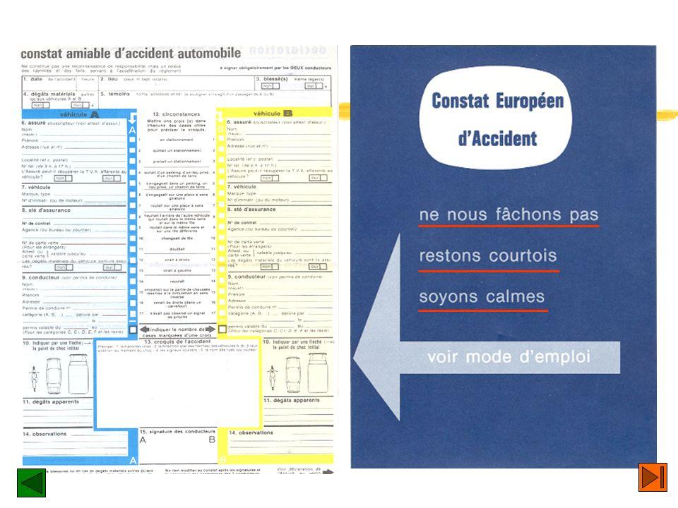 Cas particuliers zSi lautre conducteur est en possession dun formulaire également conforme au modèle retenu par le Comité Européen des Assurances, mai