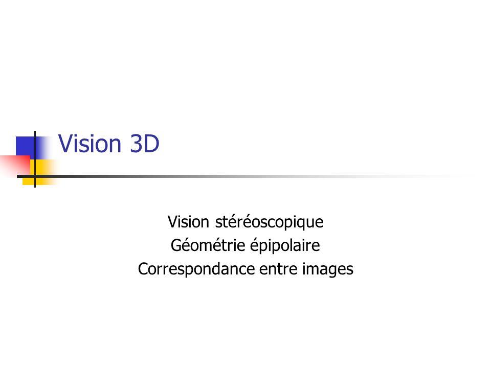 Vision par ordinateur - Alain Boucher13 Rectification d images Source : 19263.gel.ulaval.ca Idée : appliquer une transformation aux deux images pour que leurs droites épipolaires soient parallèles et alignées.
