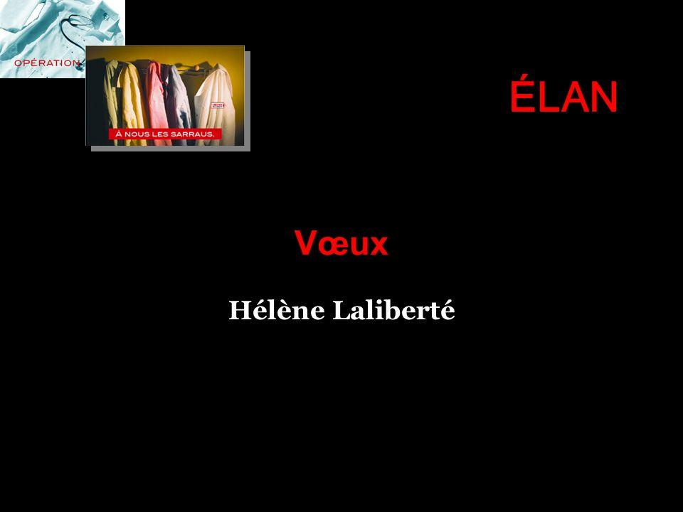 Vœux Hélène Laliberté ÉLAN
