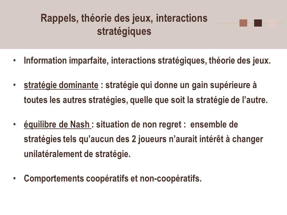 5 Coopération Théorie économiques standard prédit des comportements opportunistes individualistes, mais expériences révèlent des comportements coopératifs.