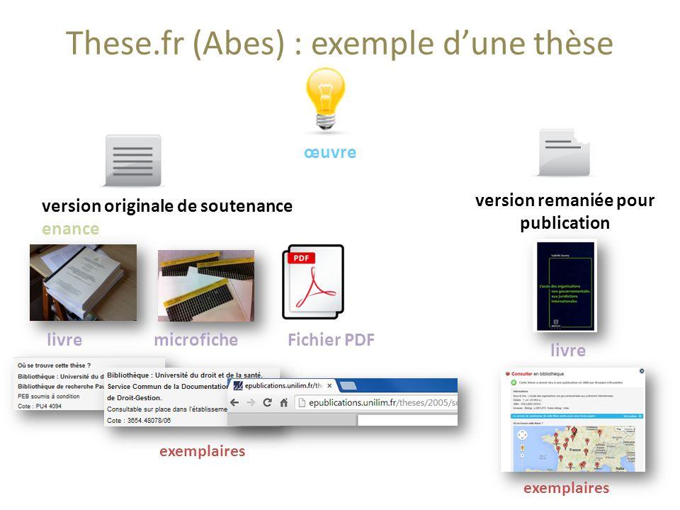 These.fr (Abes) : exemple dune thèse œuvre livremicroficheFichier PDF exemplaires version remaniée pour publication livre exemplaires version original
