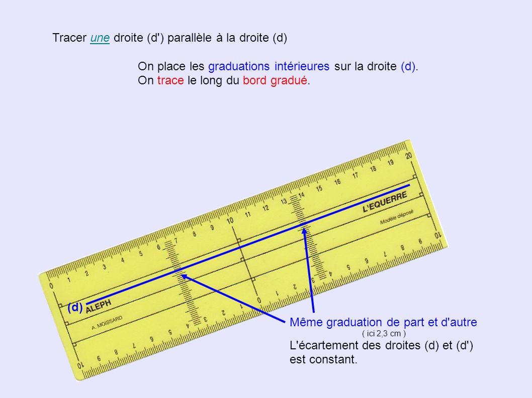 Tracer LA droite (d ) parallèle la droite (d) passant par le point C Quand le point C est « trop loin », on doit tracer une parallèle auxiliaire.