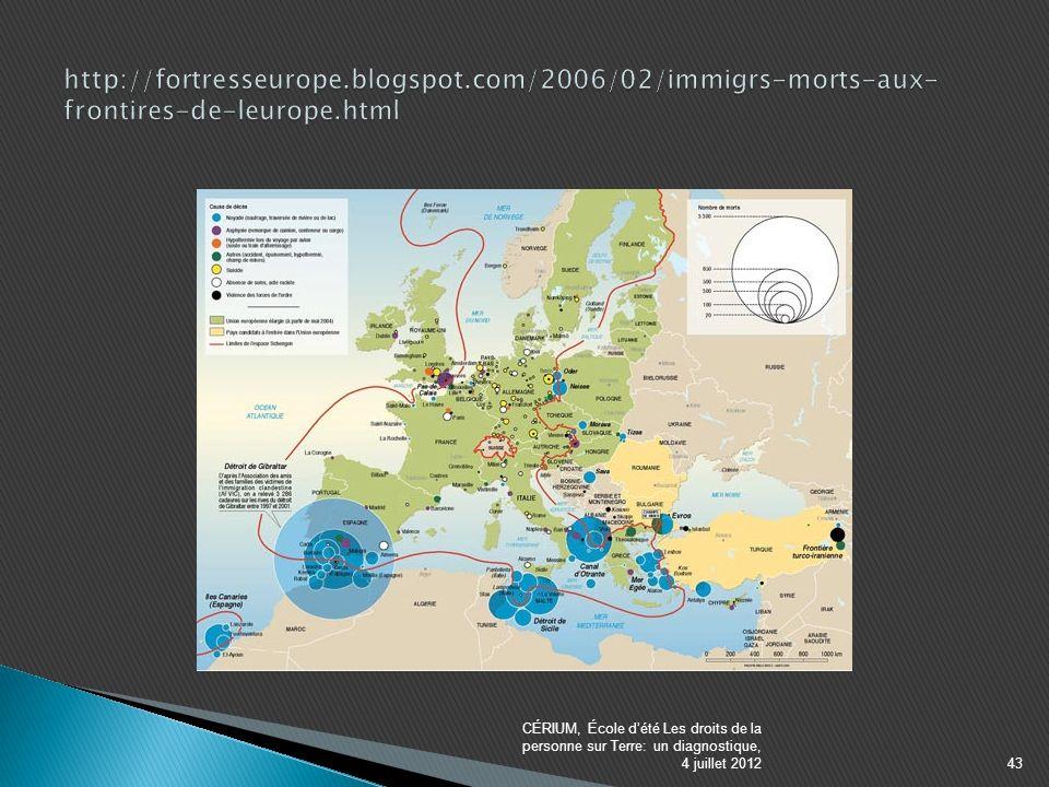 CÉRIUM, École dété Les droits de la personne sur Terre: un diagnostique, 4 juillet 201243