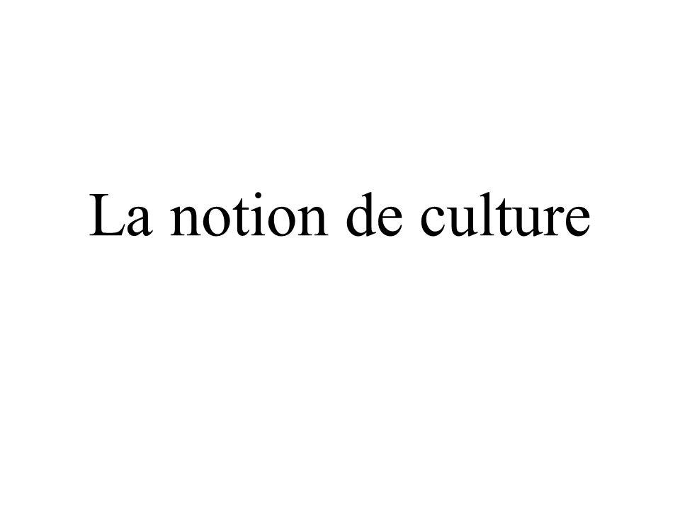 La notion de culture