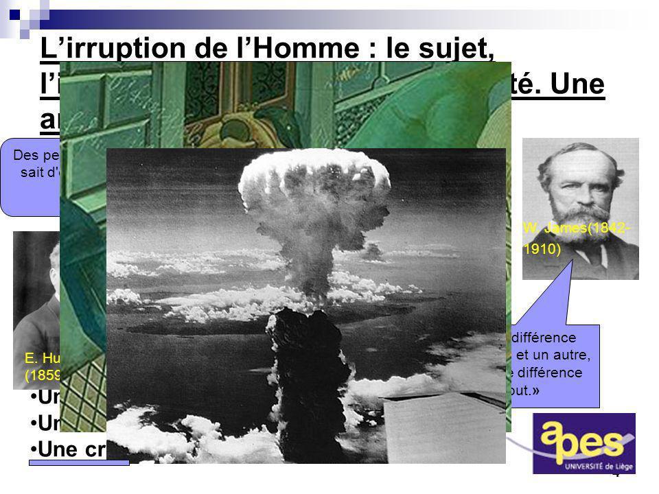 4 Lirruption de lHomme : le sujet, lirrationnel et la fin de la modernité. Une anthropologie du sujet Une critique de lutilitarisme Une critique de lh