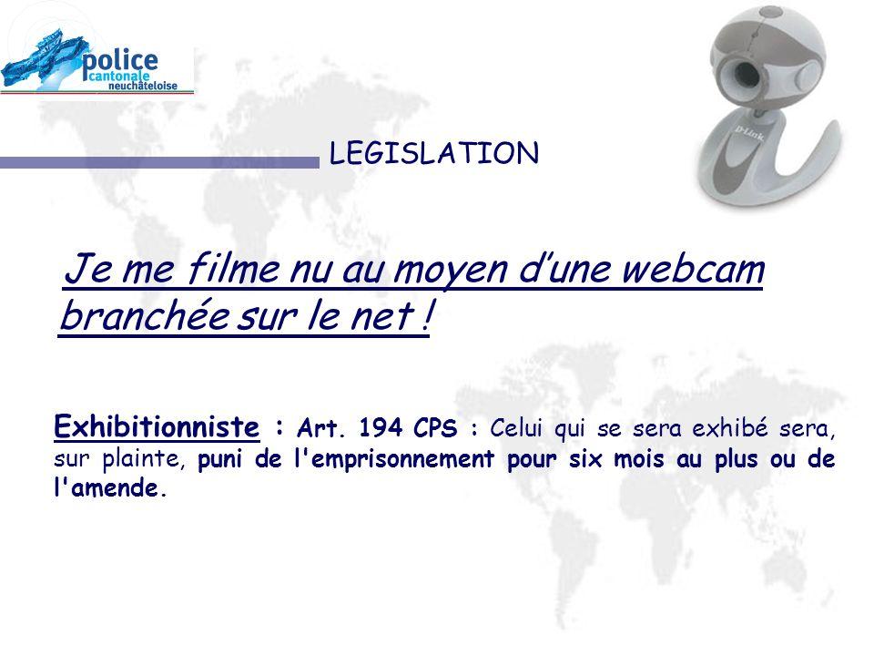 LEGISLATION Exhibitionniste : Art.