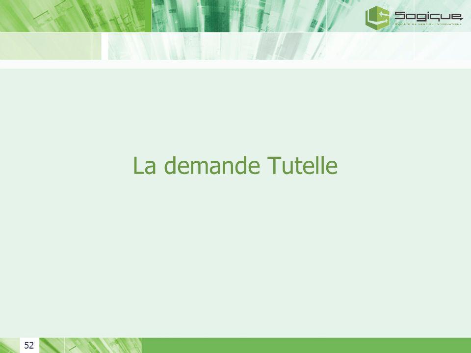 52 La demande Tutelle