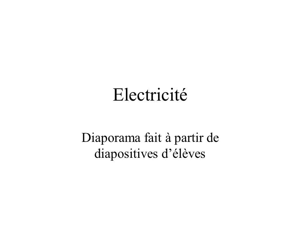 Electricité Diaporama fait à partir de diapositives délèves