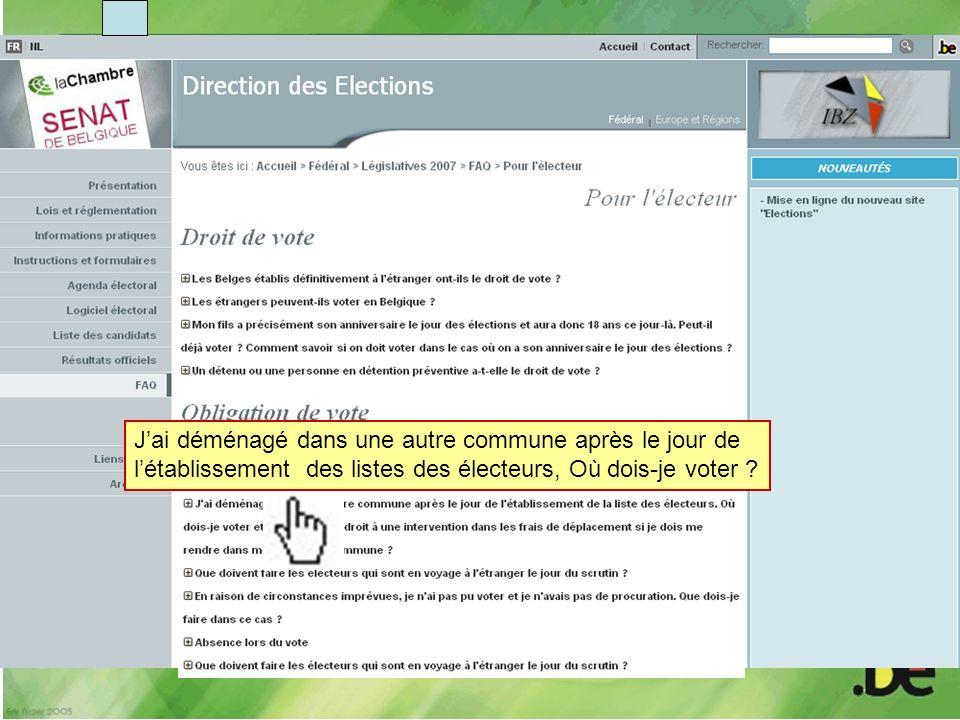 Jai déménagé dans une autre commune après le jour de létablissement des listes des électeurs, Où dois-je voter ?