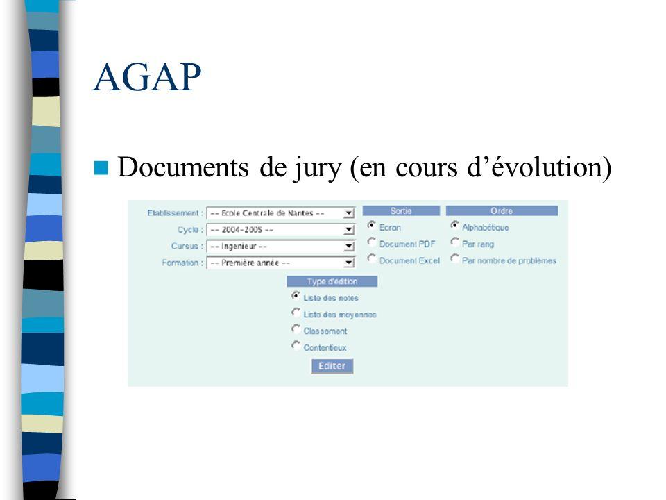 AGAP Documents de jury (en cours dévolution)