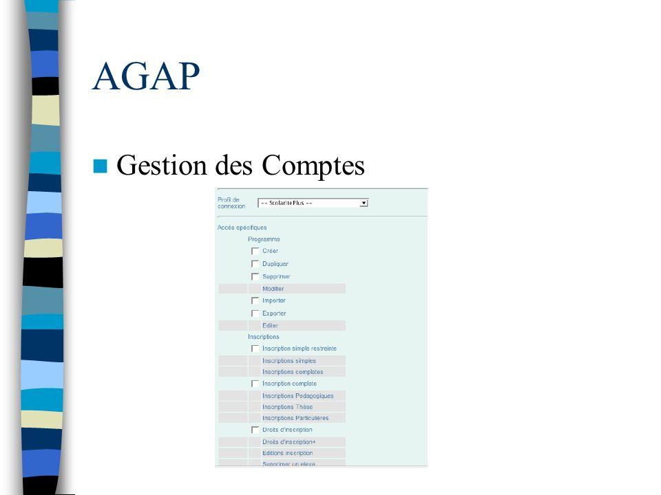 AGAP Gestion des Comptes