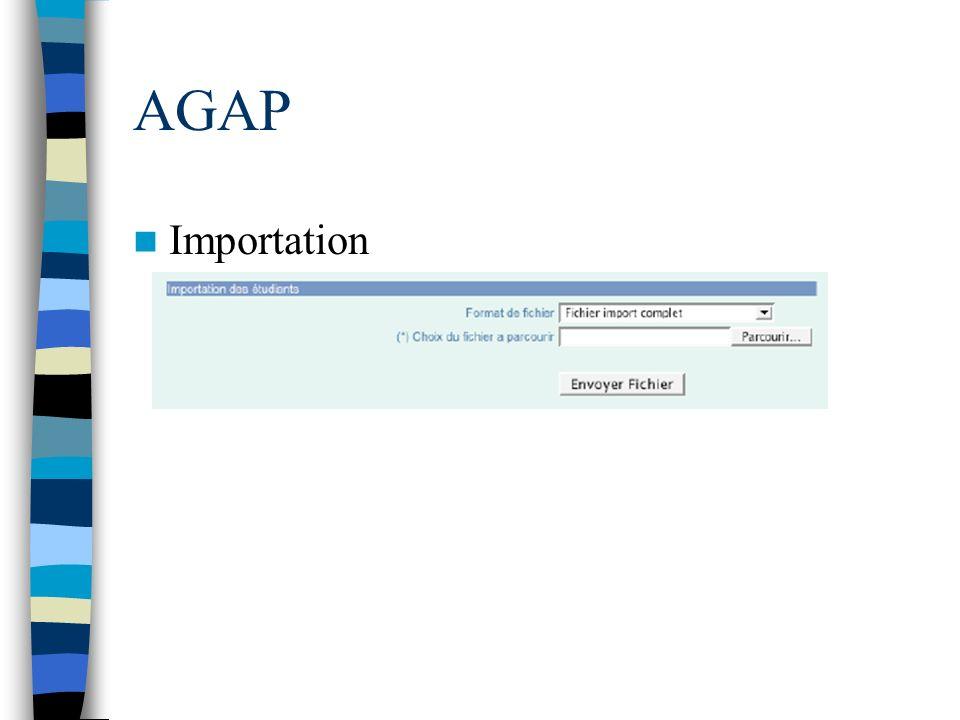 AGAP Importation