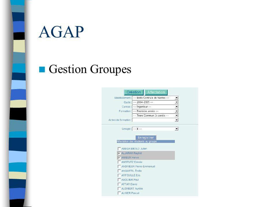 AGAP Gestion Groupes